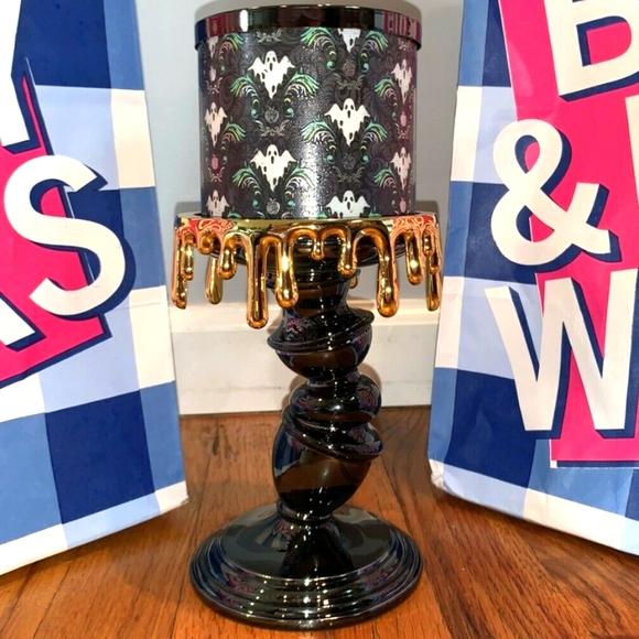 Titled Pedestal Drip Candle Holder